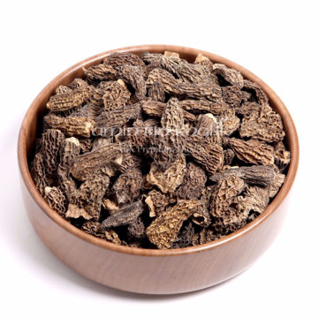 Picture of Dried jumbo Morels (Caps), 250 gm [8.82 oz]