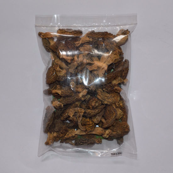 Picture of Dried Morels with tail (caps, tails), 100 gm [3.52 oz]